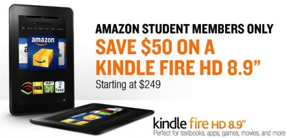 Amazon Kindle Fire $50 Off for Students